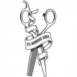Vinilo tijeras de peluquería