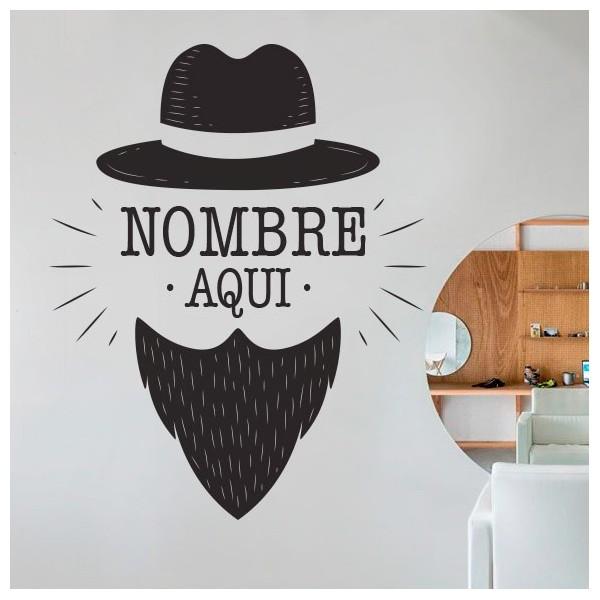 Vinilo barba vintage