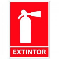 Vinilo adhesivo extintor