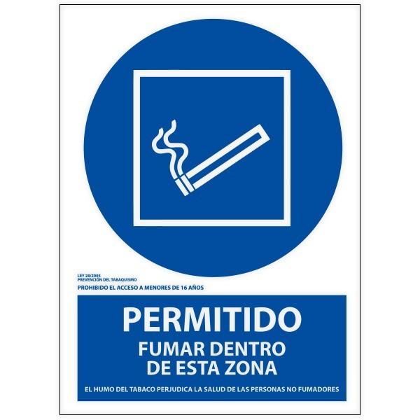 Vinilo permitido fumar