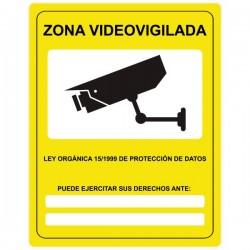 Adhesivo zona videovigilada