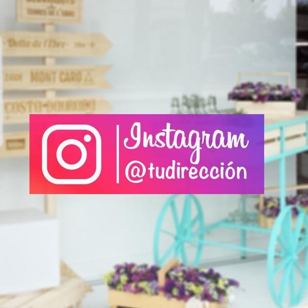 Vinilo adhesivo Instagram