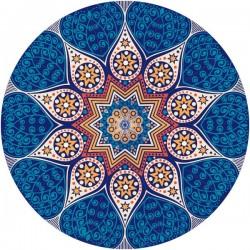 Vinilo mandala azul
