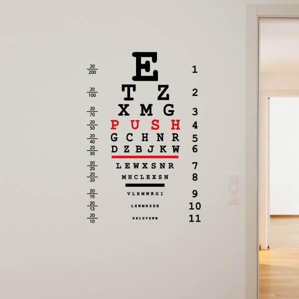 Vinilo decorativo oftalmología
