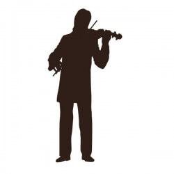 Vinilo de música con violinista