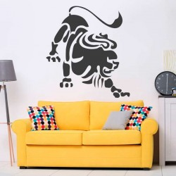 Vinilo decorativo signo leo