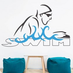 Vinilo de pared Swim