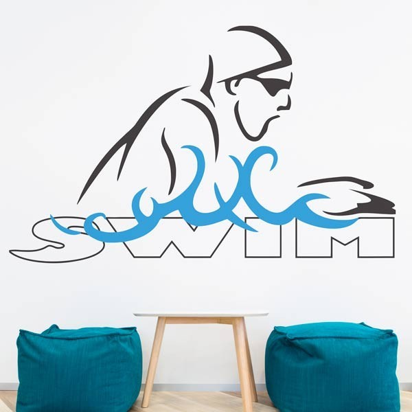 Vinilo de pared Swim