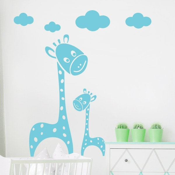 Adhesivo jirafas infantiles