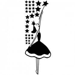 Vinilo infantil hada y estrellas