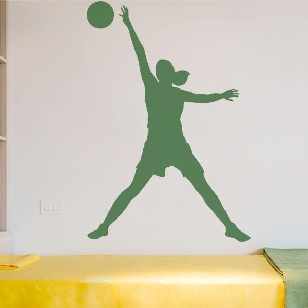 Vinilo jugadora de voleibol