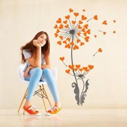 Vinilo flor de corazones 1