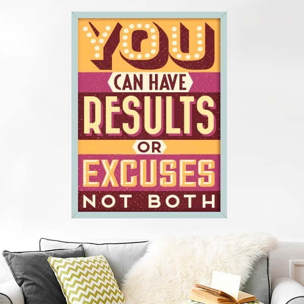 Vinilo results or excuses