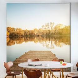 Mural en vinilo lago