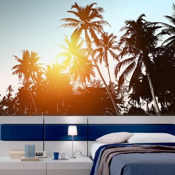 Fotomural palmeras retro
