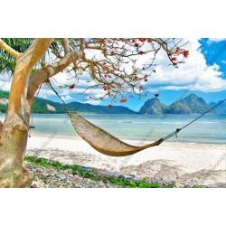 Mural relajarse en la playa