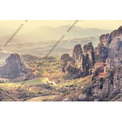 Mural Monasterios de Meteora