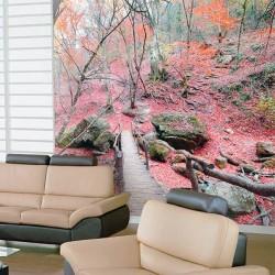 Fotomural bosque rojo
