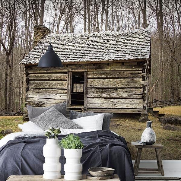 Fotomural cabaña de madera