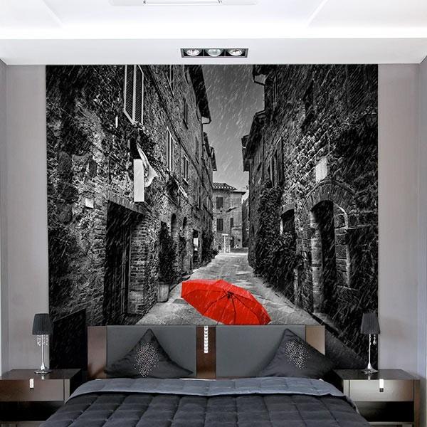 Fotomural paraguas rojo