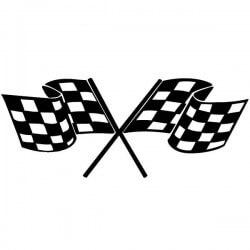 Vinilo banderas de carreras