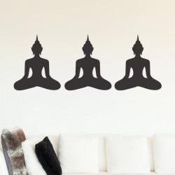 Vinilo siluetas meditación