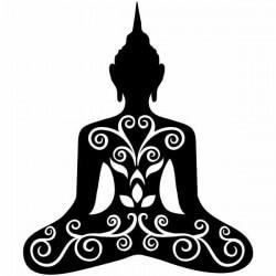 Adhesivo silueta de Buda
