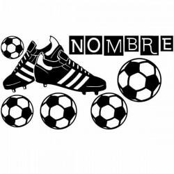 Vinilo botas de fútbol