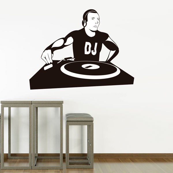 Adhesivo de música DJ