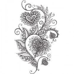 Vinilo adhesivo corazón floral