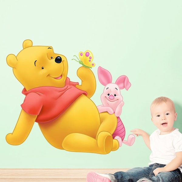 Adhesivo Pooh y Piglet