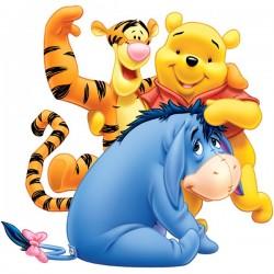 Adhesivo Pooh y amigos
