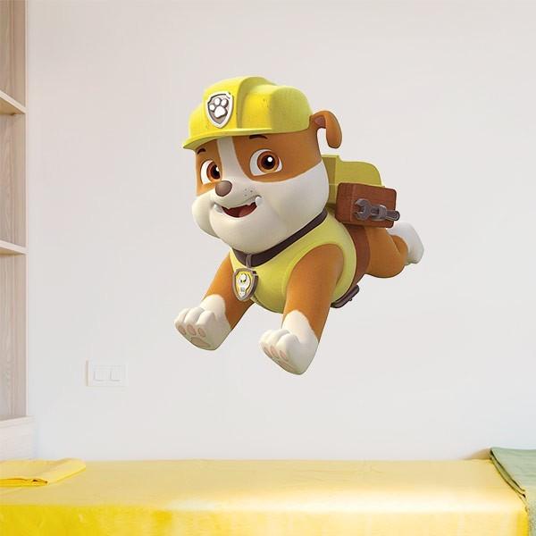 Adhesivo rubble patrulla canina