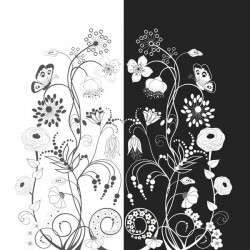 Vinilo mueble blanco o negro