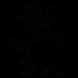 Adhesivo decorativo floral 10
