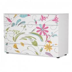 Vinilo para muebles flores pintadas