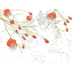 Vinilo flores con letras