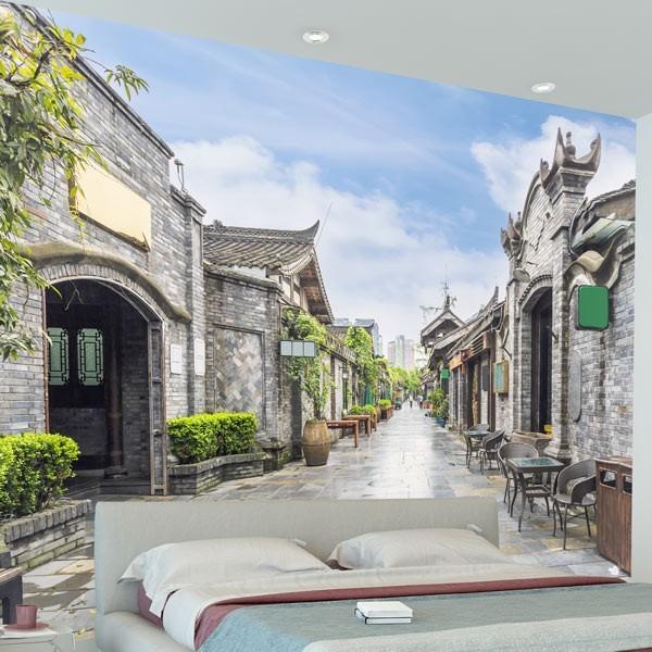 Fotomural calle de piedra