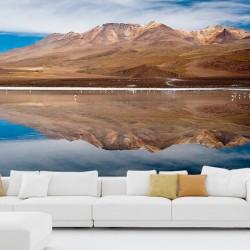 Mural montaña sobre el lago