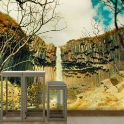 Mural de pared cascada