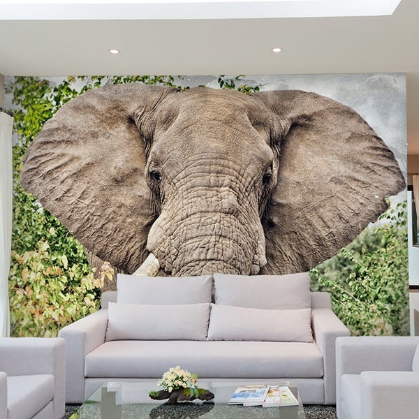 Mural de pared elefante