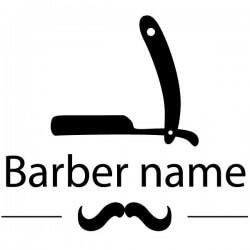 Texto personalizado barbería