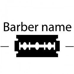 Vinilo texto personalizado barbería 2