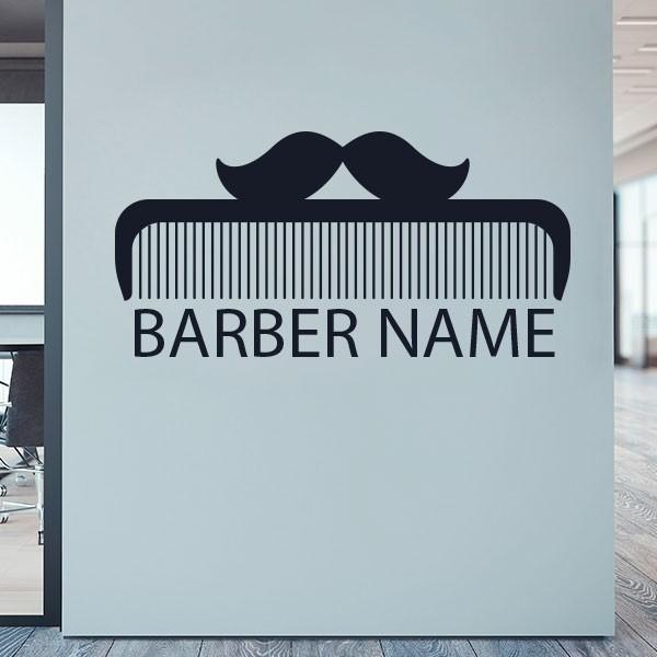 Vinilo texto personalizado barbería 3