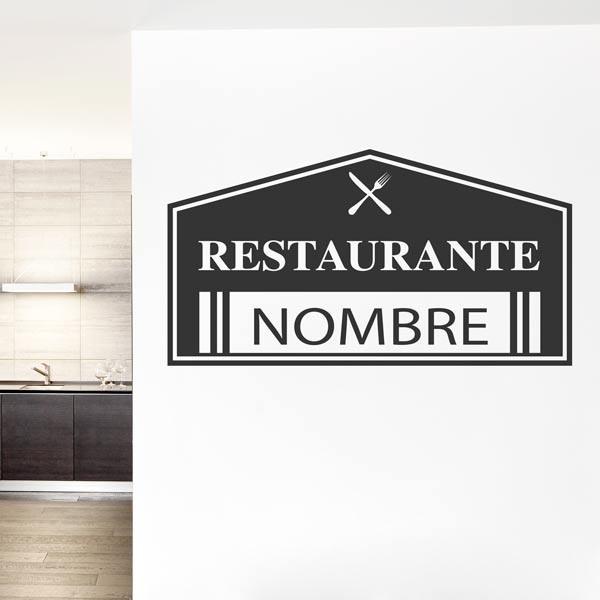 Vinilo texto personalizado restaurante