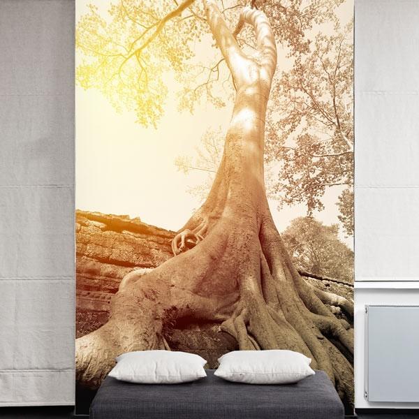 Mural decorativo raíces