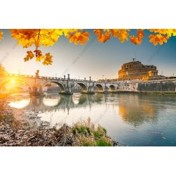 Mural de pared río en Roma