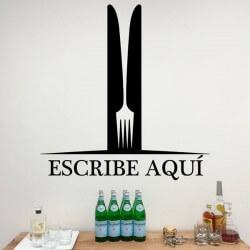 Vinilo personalizado tenedor