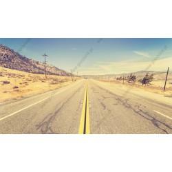 Fotomural carretera desierta