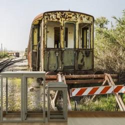 Mural en vinilo tren...